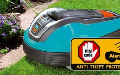 automatische Rasenmäher mit Sicherheit sicher